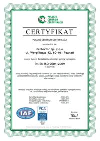 PN-EN ISO 9001: 2009